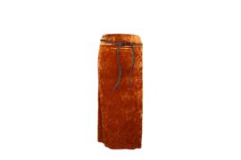 Mooi Vrolijk Skirt Nice Long - Basic Camel Steam Velvet