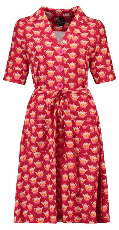 Tante Betsy Dress Vera Lynn Teapot Red