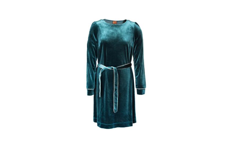 Mooi Vrolijk Dress Chic - Basic Medium Blue Steam Velvet