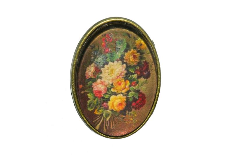 Opgepimpt ring brons bloemen