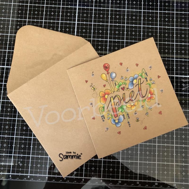 Kaartje en envelop