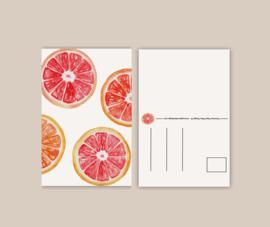 Citrusfruit wenskaart A6