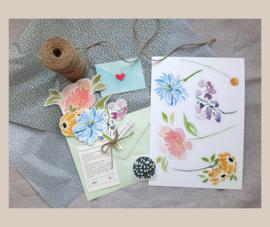DIY bloemen wenskaart - mix 1