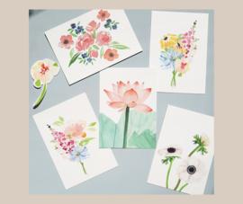 Kaartenset bloemen pick&mix - 3 kaarten