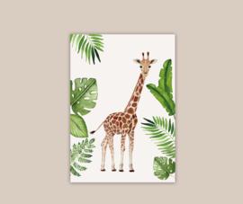 Giraf poster A4