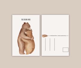 Big Bear Hug wenskaart A6
