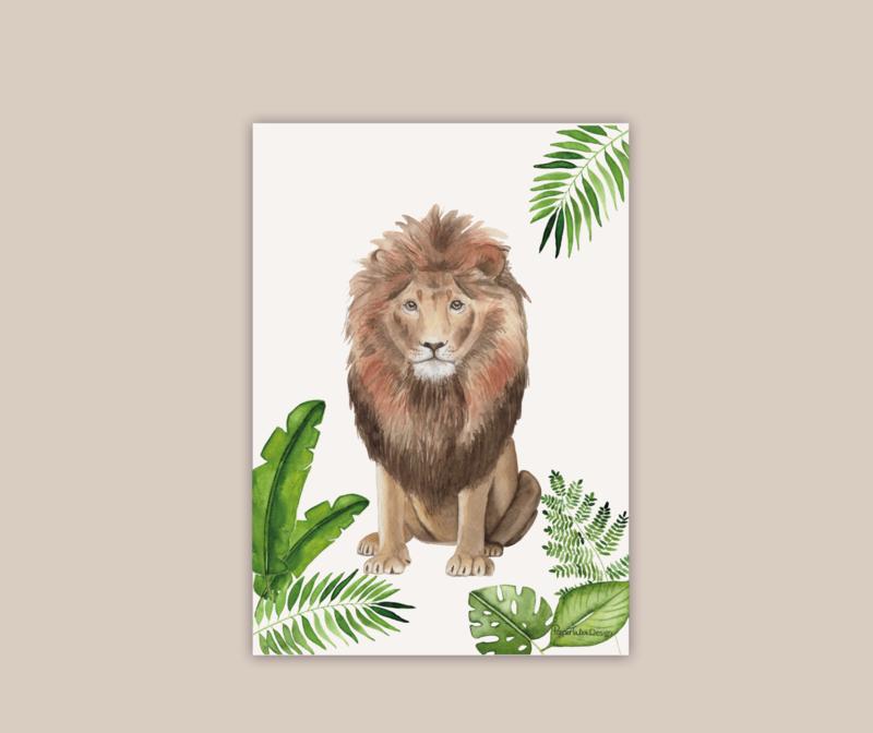 Leeuw poster A4