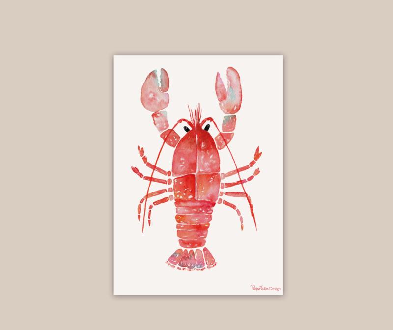 Rode Kreeft poster A4