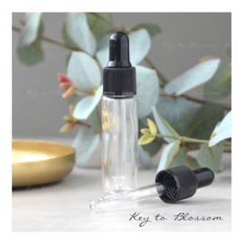Glass Dropper Bottle (10ml) - Clear Glass