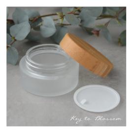 Glass Jar Bamboo 30ml