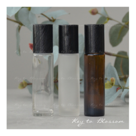 Glass Roller Bottle (10ml) with Brushed Black Cap