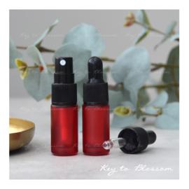 Glazen spray fles (5 ml) - Rood