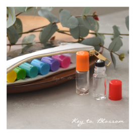SUMMER SET with 9 roller bottles (5ml) - Clear glass