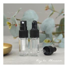 Glass Spray Bottle (5ml) - Clear Glass