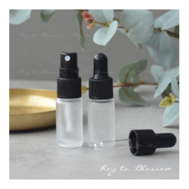 Glass Spray Bottle (5ml) - White Frosted