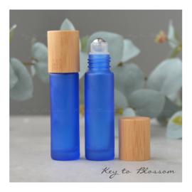 Rainbow Roller Bottle (10ml) with Bamboo Cap - Dark Blue
