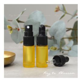 Glazen spray fles (5 ml) - Geel