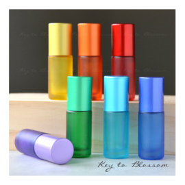 Rainbow Roller Bottles (5ml) - Set of 7