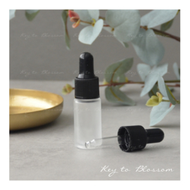 Glass Dropper Bottle (5ml) - White frosted