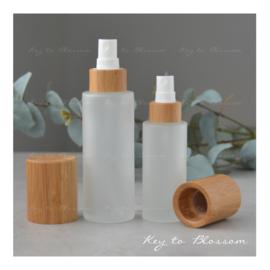 Glazen spray fles Bamboe (100 ml)