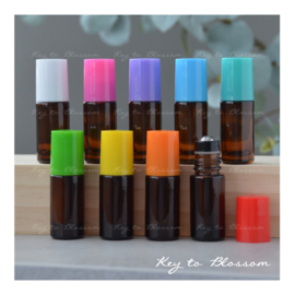 SUMMER SET with 9 roller bottles (5ml) - Amber Brown