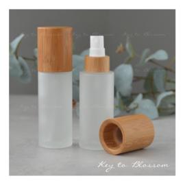 Glass Spray Bottle (50ml) - Bamboo
