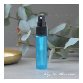 Glass Spray Bottle (10ml) - Light Blue/Teal