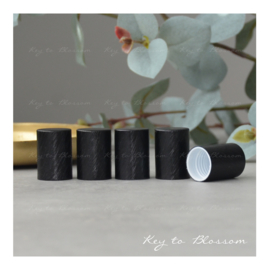 Roller Bottle Caps - Set of 5 - Black