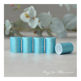 Roller Bottle Caps - Set of 5 - Light Blue/Teal NEW STYLE