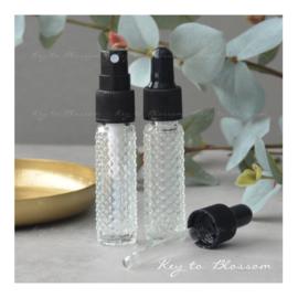 Glazen spray fles (8 ml) - Boho Dotted
