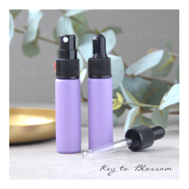 Glass Dropper Bottle (10ml) - Light Purple/Lilac Matte