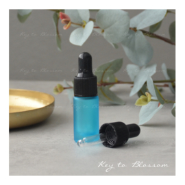 Glass Dropper Bottle (5ml) - Light Blue/Teal