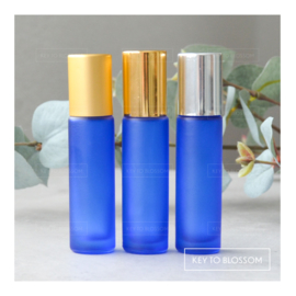 Rainbow Roller Bottle (10ml) with Matte Golden Cap - Dark Blue