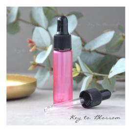 Glazen pipet fles (10 ml) - Roze