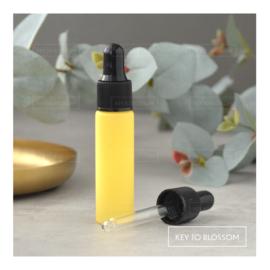 Glazen pipet fles (10 ml) - Licht Geel/Pastel (mat)