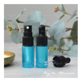 Glass Spray Bottle (5ml) - Light Blue/Teal