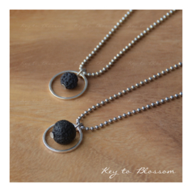 Lava Rock Ketting Cirkel large