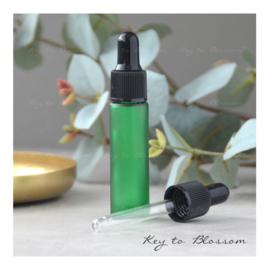 Glazen pipet fles (10 ml) - Groen