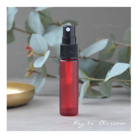 Glass Spray Bottle (10ml) - Red frosted