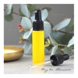 Glass Dropper Bottle (10ml) - Yellow (matte)
