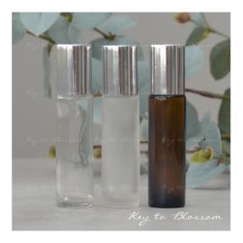 Glazen Roller 10 ml - Shiny Silver (diverse opties)