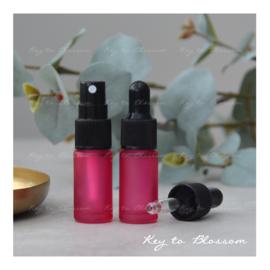 Glazen spray fles (5 ml) - Roze