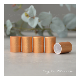 Roller Bottle Caps - Set of 5 - Orange/Bronze NEW STYLE