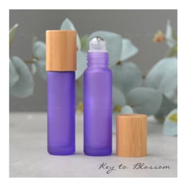 Rainbow Roller Bottle (10ml) with Bamboo Cap - Purple