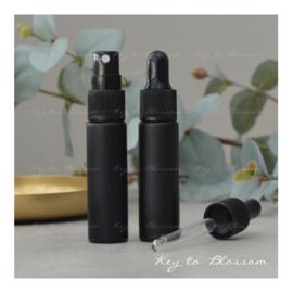 Glass Spray Bottle (10ml) - Black Matte