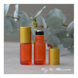 Rainbow Roller Bottle (5ml) with Matte Golden Cap - Orange