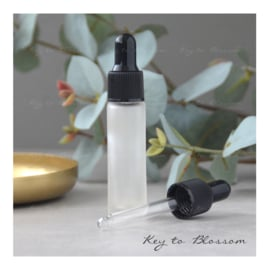 Glass Dropper Bottle (10ml) - White frosted