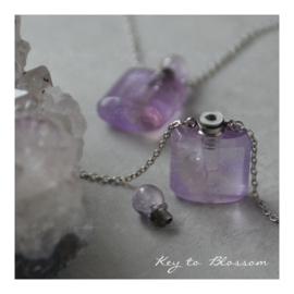 Necklace Perfume Bottle - Amethyst