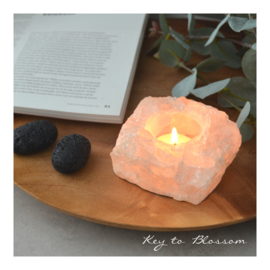 Tea Light Holder - Rose Quartz