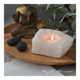 Tea Light Holder - Clear Quartz